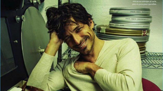 Andres Velencoso Goes Hollywood for Woman Cover Shoot