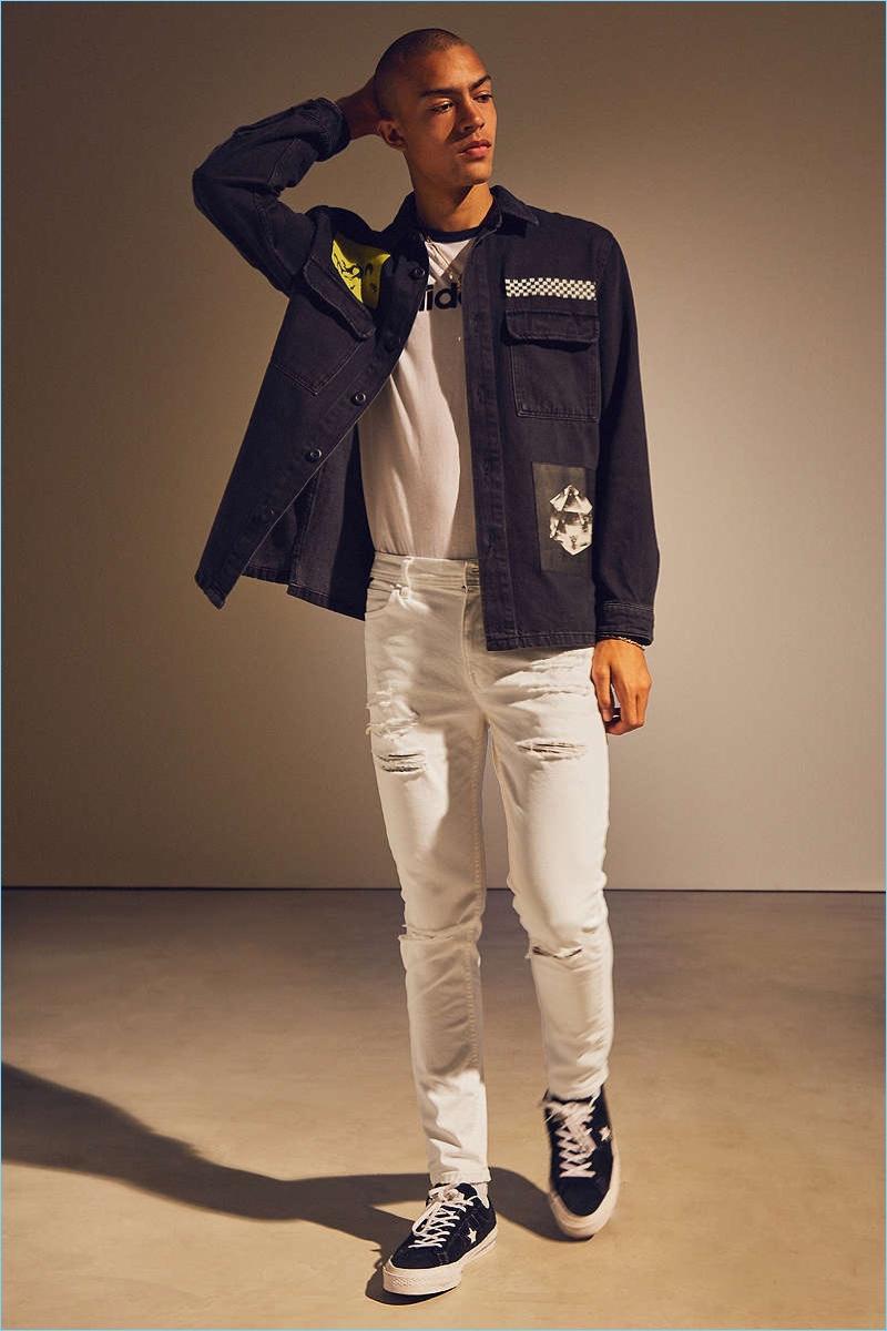 BDG Destructed White Skinny Jeans