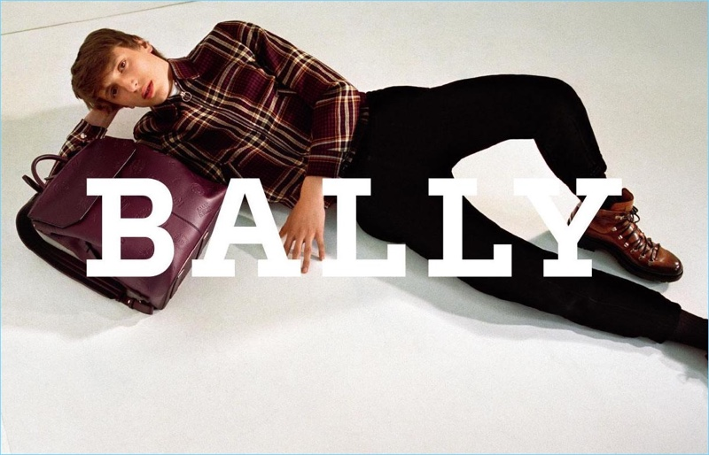 Bally taps model Antoine Duvernois as the face of its fall-winter 2017 campaign.
