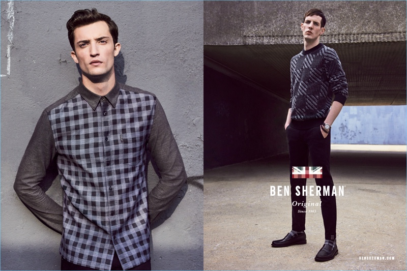 Models Max Von Isser and Aaron Vernon star in Ben Sherman's fall-winter 2017 campaign.