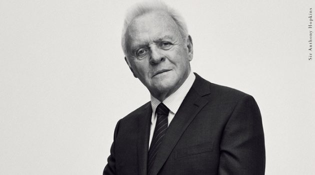 Gregory Harris photographs Sir Anthony Hopkins for Brioni's fall-winter 2017 campaign.