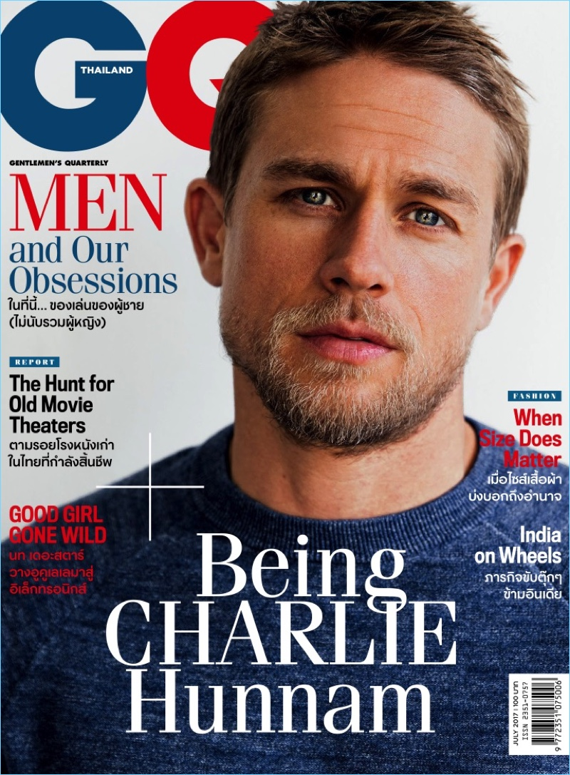 Actor Charlie Hunnam covers the July 2017 issue of GQ Thailand.