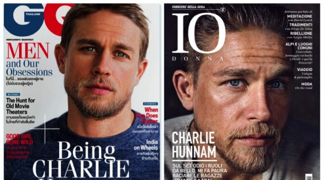 English actor Charlie Hunnam covers GQ Thailand and IO Donna.