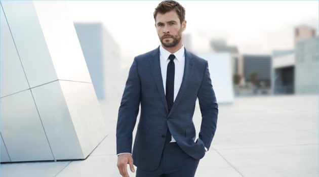 Chris Hemsworth suits up for the latest campaign for BOSS Bottled.