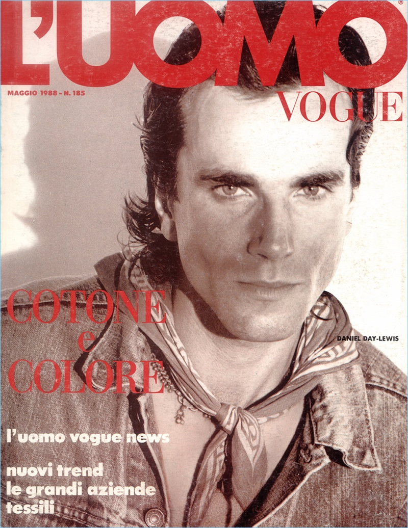 Daniel Day-Lewis May 1988 L'Uomo Vogue Cover