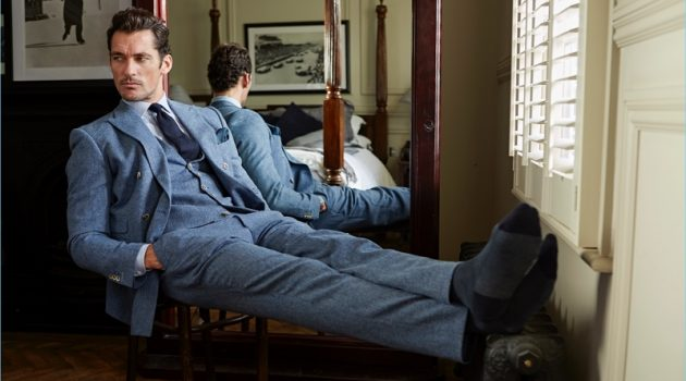 David Gandy appears in an image for London Sock Co.