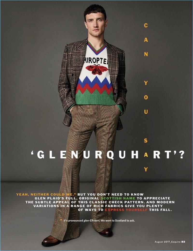 Sam Webb & Jacob Coupe Don Glen Plaid Fashions for Esquire