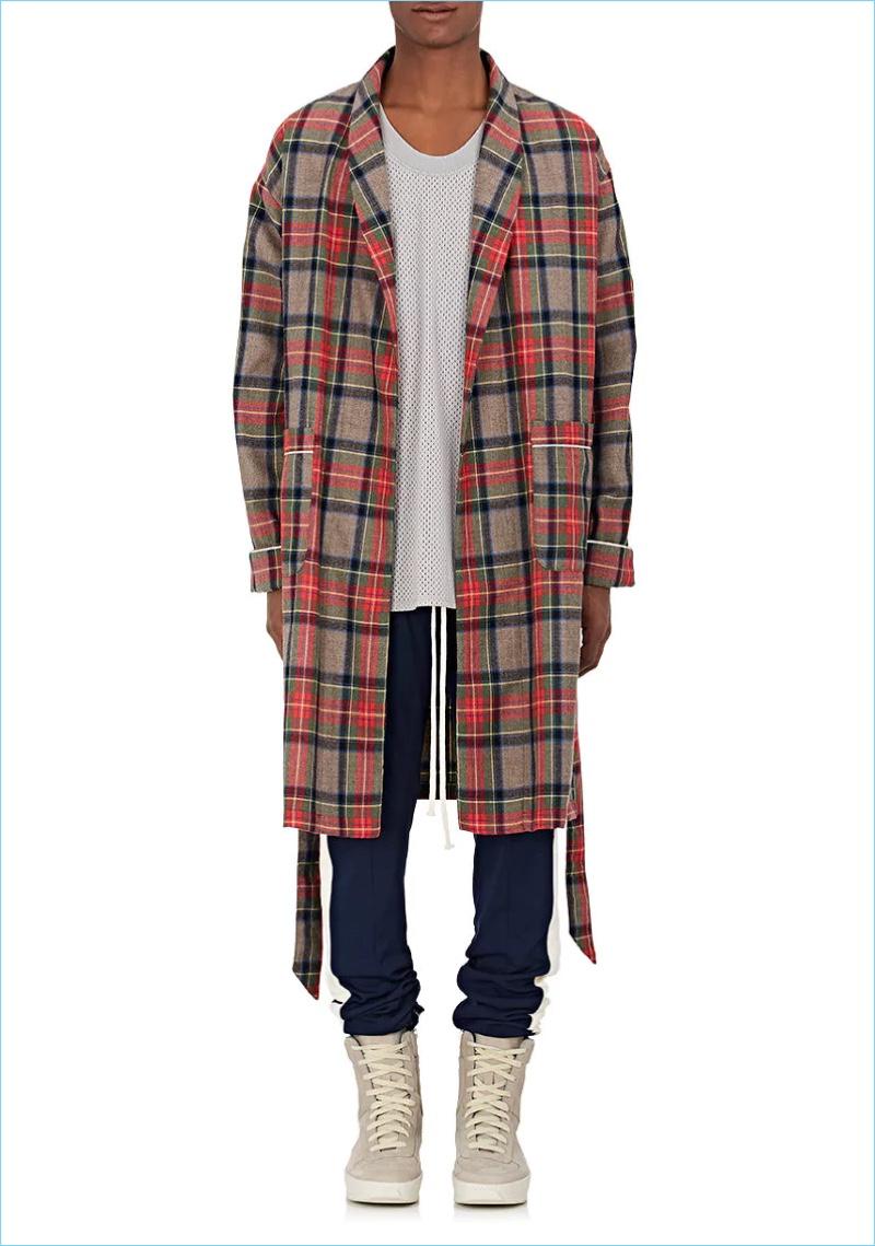 Fear of God Plaid Wool Twill Robe