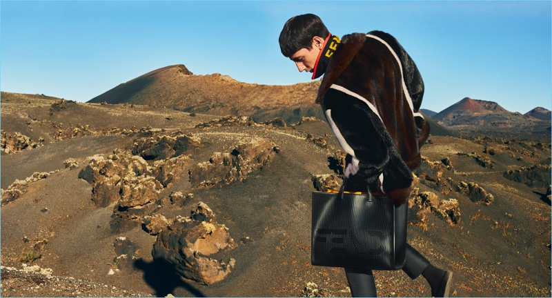 Fendi enlists Nicolas Ripoll as the star of its fall-winter 2017 men's campaign.