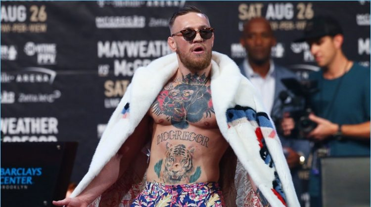 Conor McGregor Continues to Peacock: World Press Tour Style