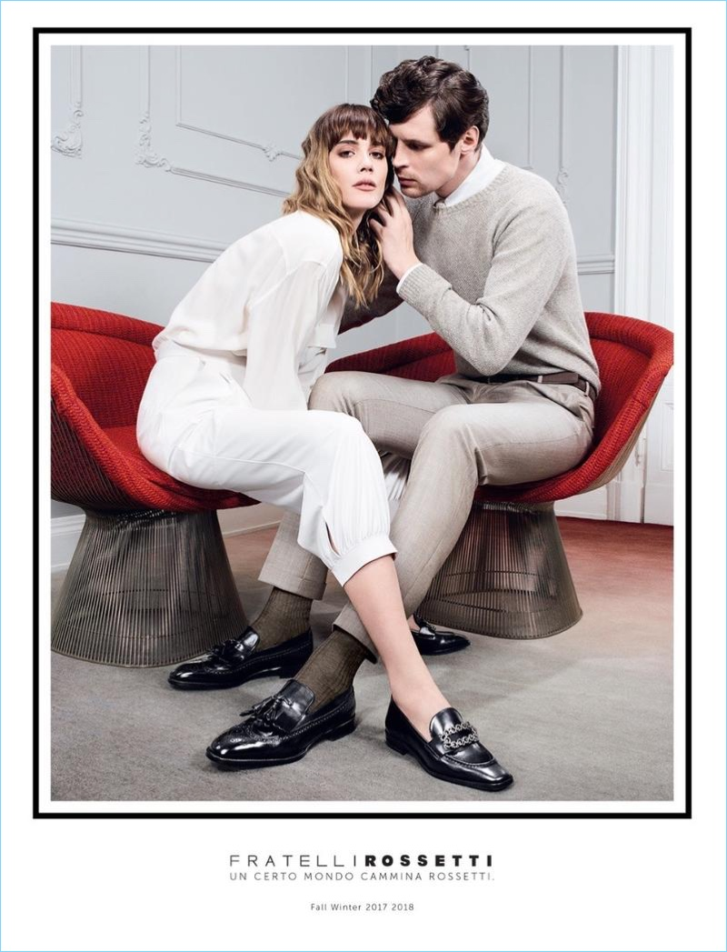Adrian Bosch appears in Fratelli Rossetti's fall-winter 2017 advertising campaign.