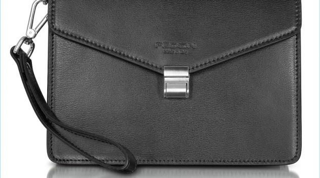 Giorgio Fedon 1919 New Class Leather Clutch with Wristlet