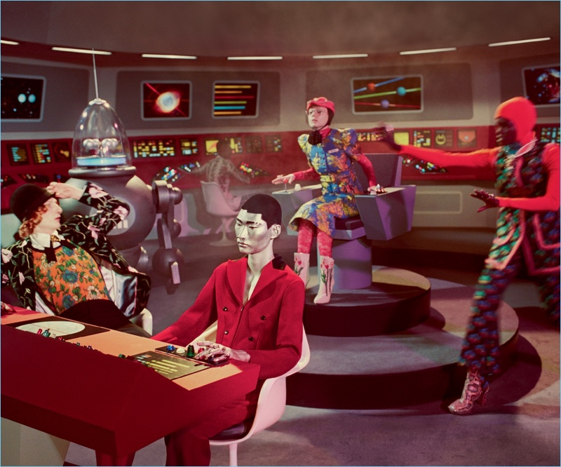 Glen Luchford photographs Gucci's Star Trek-inspired fall-winter 2017 campaign.