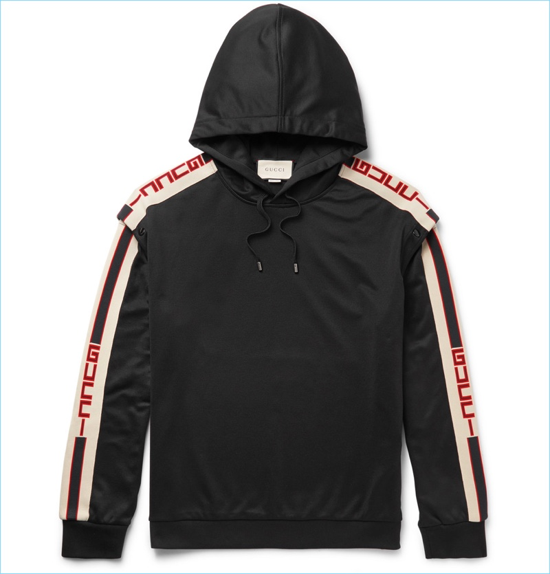Gucci Oversized Taped Jersey Hoodie
