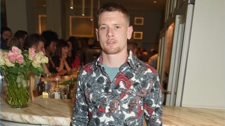 Jack O'Connell Makes Print Statement in Burberry Beasts Shirt
