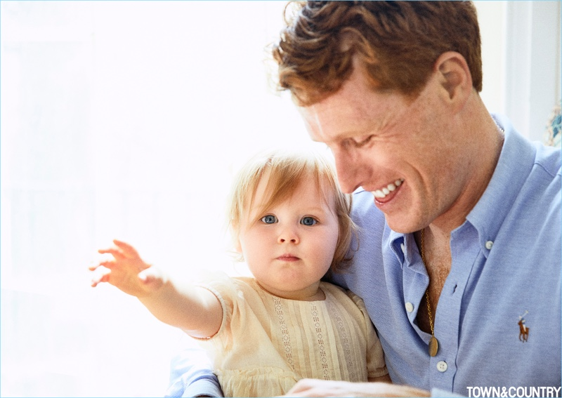 All smiles, U.S. Representative Joe Kennedy III appears in a picture with his daughter Eleanor.
