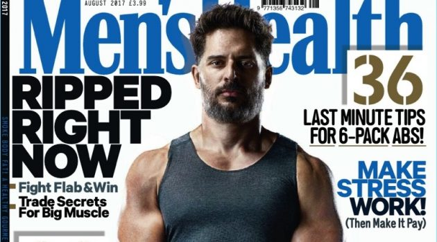 Joe Manganiello covers the August 2017 issue of Men's Health UK.