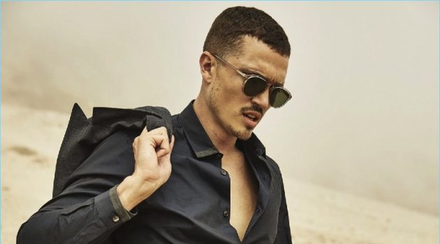 Bulletproof: Karl Glusman Dons Tailored Suits for Esquire Fashion Shoot