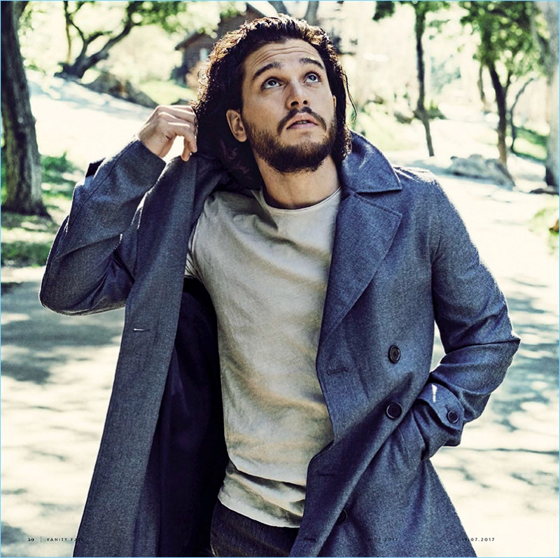 Venturing outdoors, Kit Harington appears in a feature for Vanity Fair Italia.