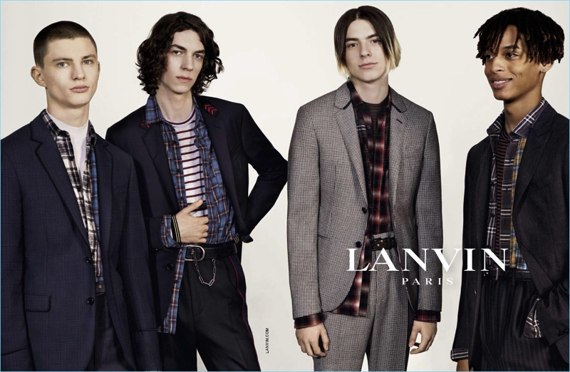 Collier Schorr photographs Lanvin's fall-winter 2017 men's campaign.