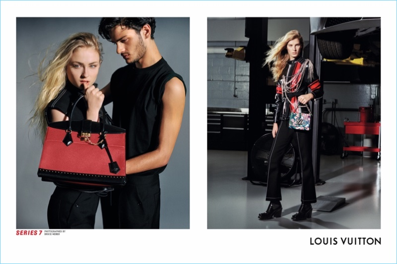 Game of Thrones actress Sophie Turner and model Santiago Robledo star in Louis Vuitton's Series 7 fall-winter 2017 campaign.