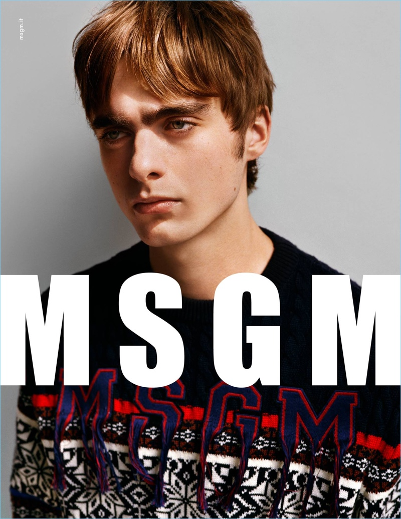 MSGM enlists Lennon Gallagher as the star of its fall-winter 2017 campaign.