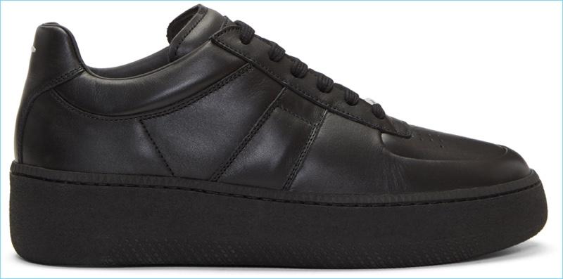 Maison Margiela Black Leather Platform Sneakers