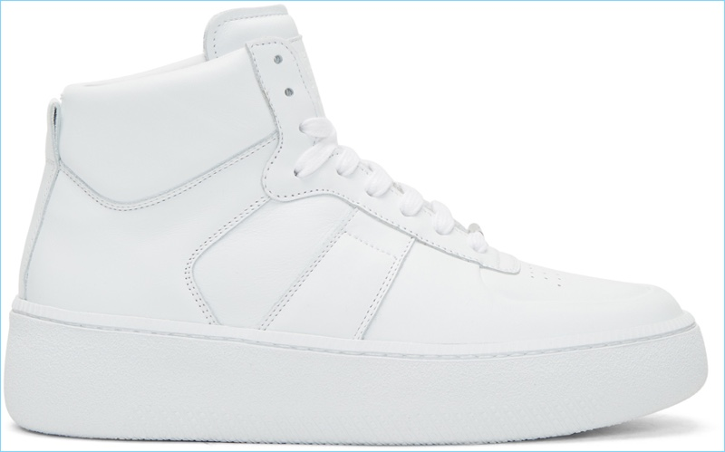 Maison Margiela White Chunky Sole High-Top Sneakers