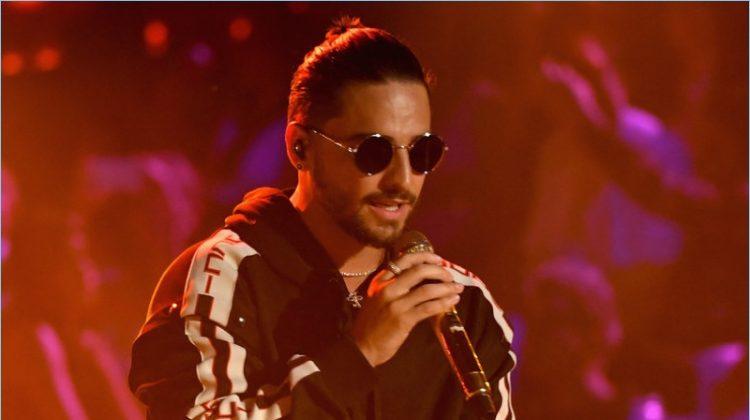 Maluma Rocks Gucci for 2017 Premios Juventud