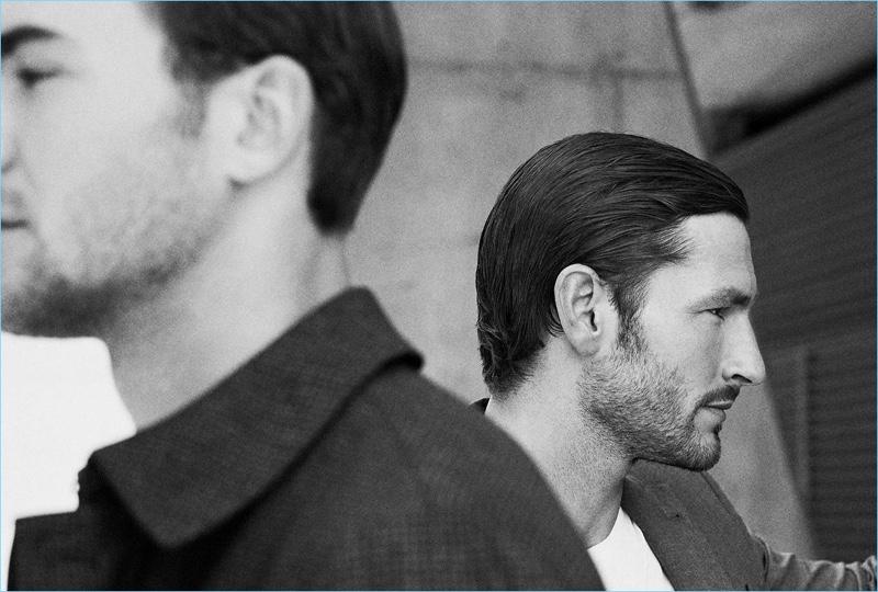 Skyline Shades: Parker Gregory & Patrick Kafka Model Massimo Dutti's Fall Styles