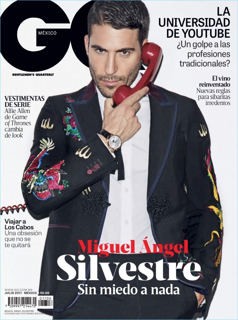 Miguel Ángel Silvestre covers the July 2017 issue of GQ México.