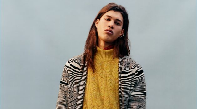 Harley Weir photographs Jordan Legessa for Missoni's fall-winter 2017 campaign.