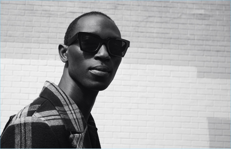 Armando Cabral rocks Off-White's sunglasses for Warby Parker.