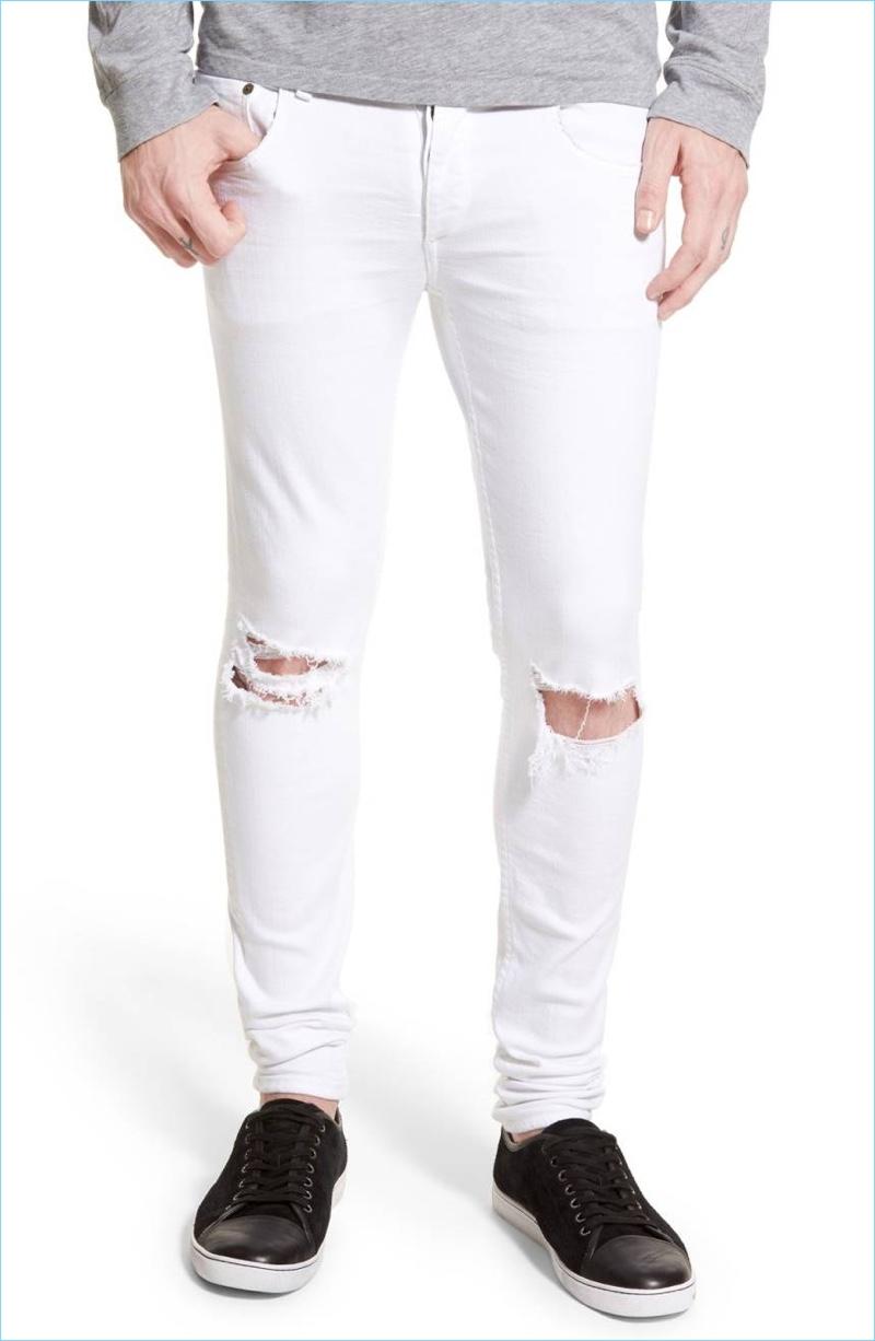 Rag & Bone Standard Issue Fit 1 Skinny Fit White Jeans