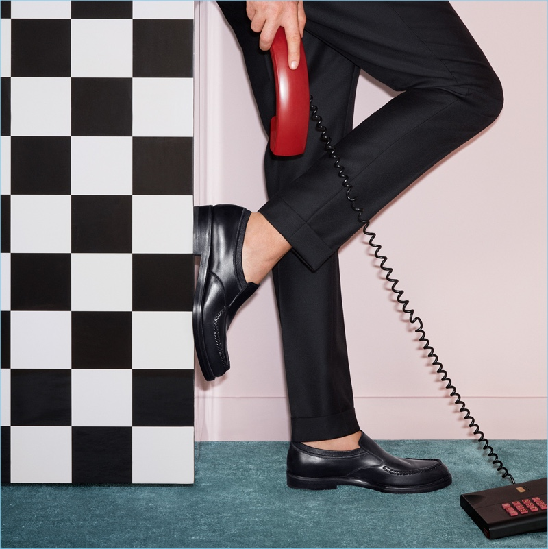 Salvatore Ferragamo spotlights its leather loafers for its fall-winter 2017 campaign.
