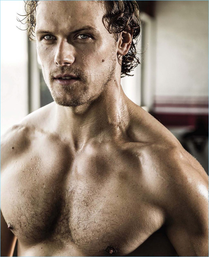 Ready for his close-up, Sam Heughan appears in a photo shoot for Men's Health South Africa.