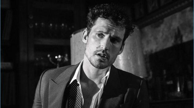 Sam Webb Stars in Striking Black & White Story for WSJ Italia