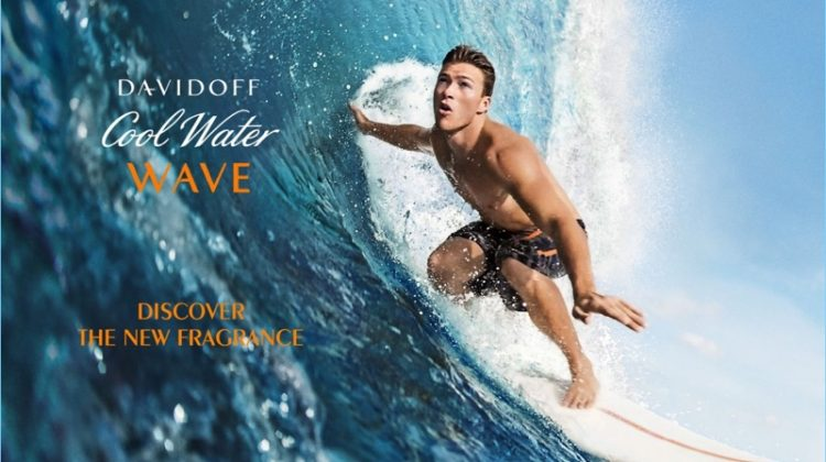 Scott Eastwood Reunites with Davidoff for Cool Water Wave Fragrance Campaign