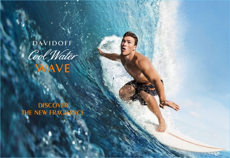 Scott Eastwood 2017 Davidoff Cool Water Wave Fragrance Campaign