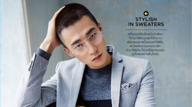 Suit with a Twist: Sehan Lee Dons Inspiring Numbers for GQ Thailand