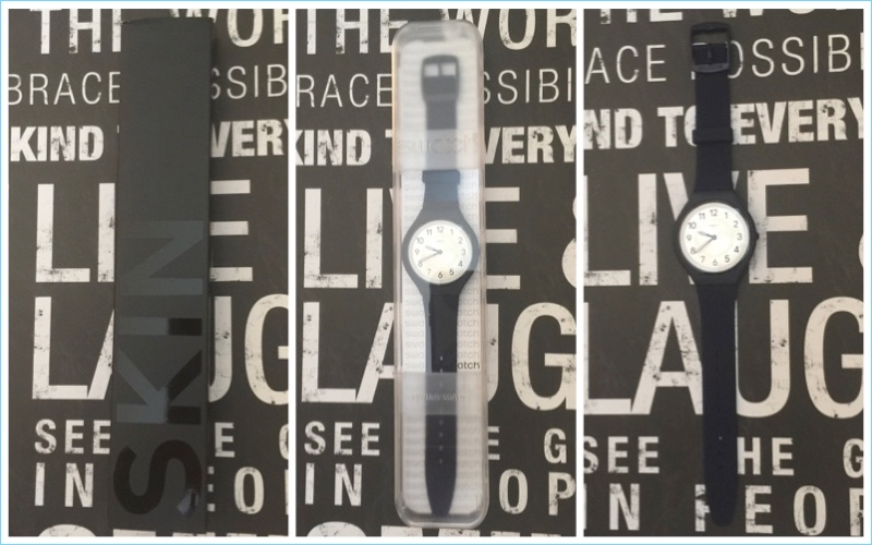 Matching the sleek thin details of the SKIN watch, Swatch's packaging is clean and skinny.