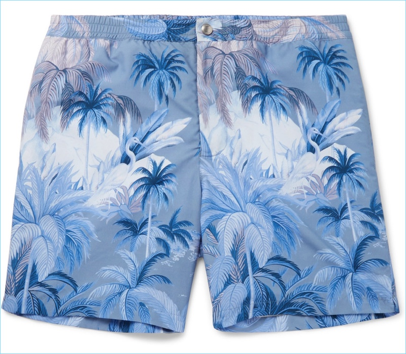 Tods Mid-Length Printed Swim Shorts