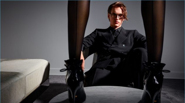 Jegor Venned stars in Tom Ford's fall-winter 2017 advertising campaign.