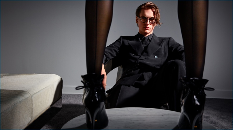 Jegor Venned stars in Tom Ford's fall-winter 2017 campaign