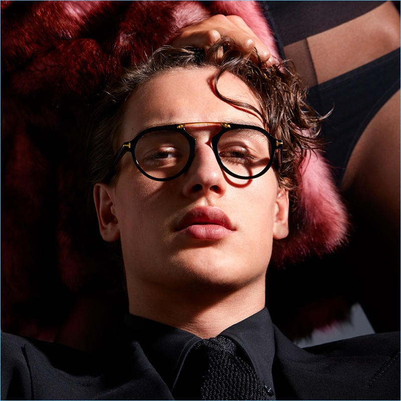 Model Jegor Venned stars in Tom Ford's fall-winter 2017 eyewear campaign.