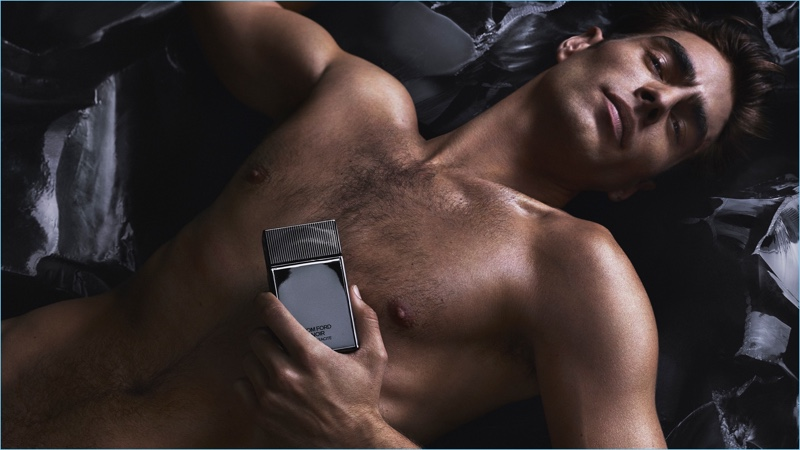Jon Kortajarena fronts Tom Ford's Noir Anthracite fragrance campaign.
