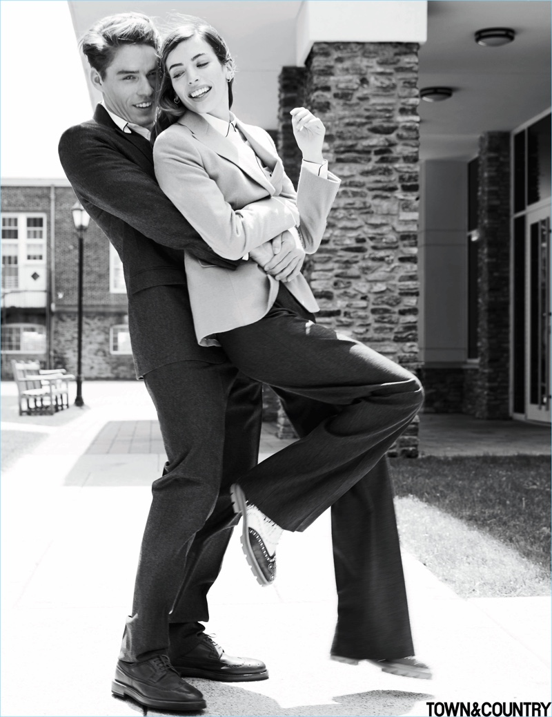 Tyler Clinton & Clara McGregor Embrace Old School Prep Style for Town & Country