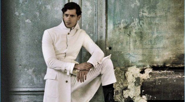 Valerio Foglia Manzillo Dons Bottega Veneta for L'Uomo Vogue