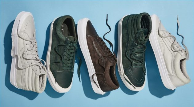 Barneys New York collaborates with Vans on special nubuck and leather sneakers.