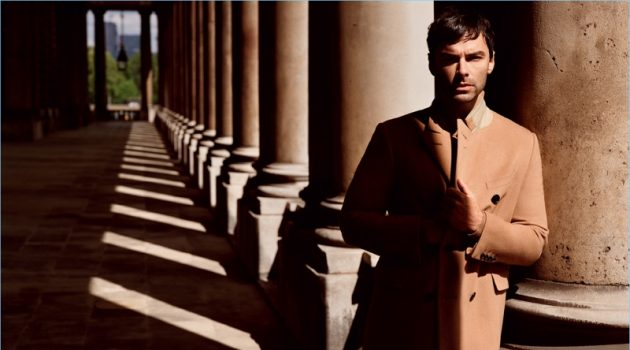 Aidan Turner stars in Dunhill's fall-winter 2017 campaign.